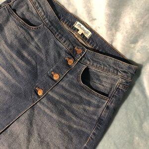 Madewell Jean mini skirt